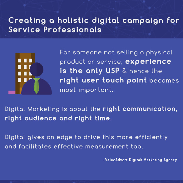 Creating a holistic digital campaign for Service Professionals